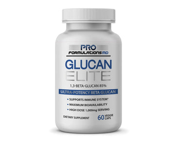 Glucan Elite - Beta Glucan Supplement 1,3D Beta-Glucan 85%, 1,000mg per serving - 30 servings - Glucan Elite