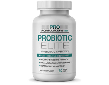 Probiotic Elite – High Potency Synbiotic with FOS + Supernatant - 30 Servings - Glucan Elite
