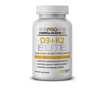 Subscribe & Save 10% - Monthly Auto Renew  - D3 + K2 Elite – High Potency Vitamin D3 (5,000 IU) + Vitamin K2 (MK-7) - 60 Servings - Glucan Elite