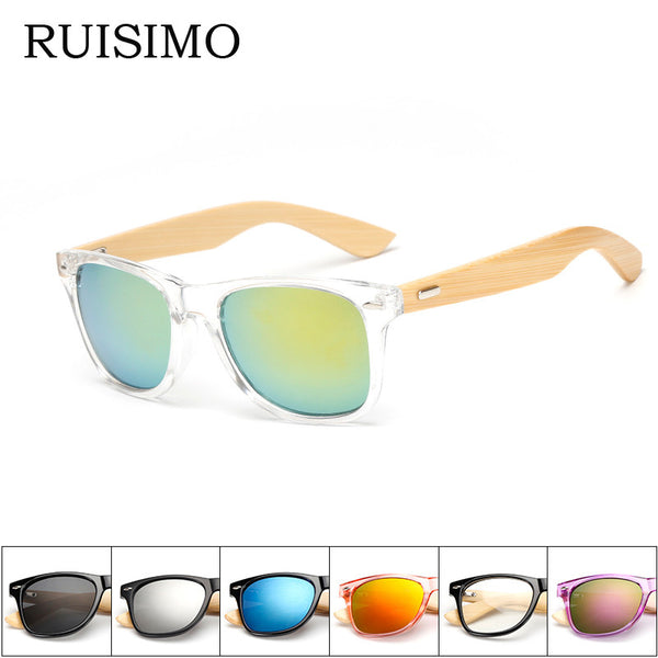 16 color Wood Sunglasses Men women square bamboo Women for women men Mirror Sun Glasses Oculos de sol masculino 2016 Handmade