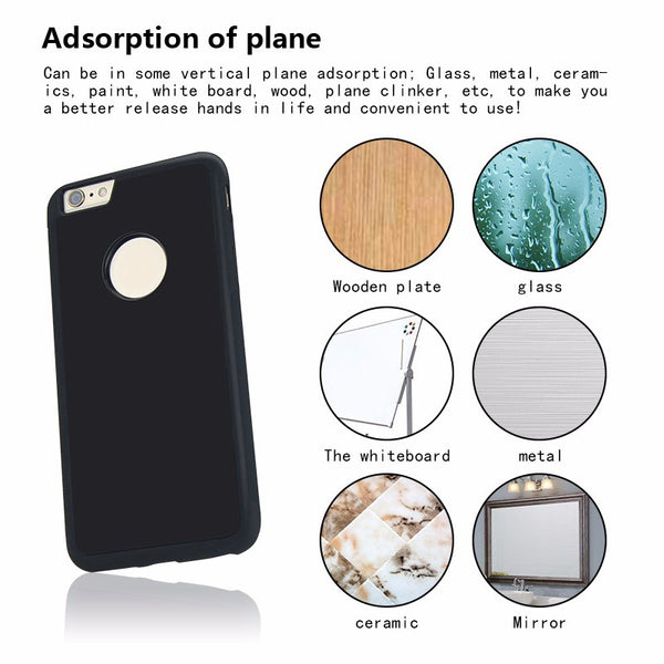 Anti Gravity Phone Bag Case For iPhone 6 6S Plus 7 Plus Antigravity TPU Frame Magical Nano Suction Cover Adsorbed Car Hard Case