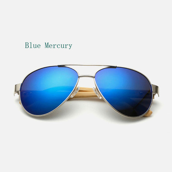 Ralferty Vintage Pilot Wood Sunglasses Men Women UV400 Gradient Sun Glasses Driver Sport Eyewear Original Bamboo Sunglass Male