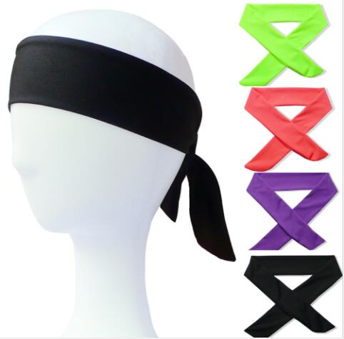 Cotton Tie Back Headbands- Stretches for Sports! Moisture Wicking Bandana