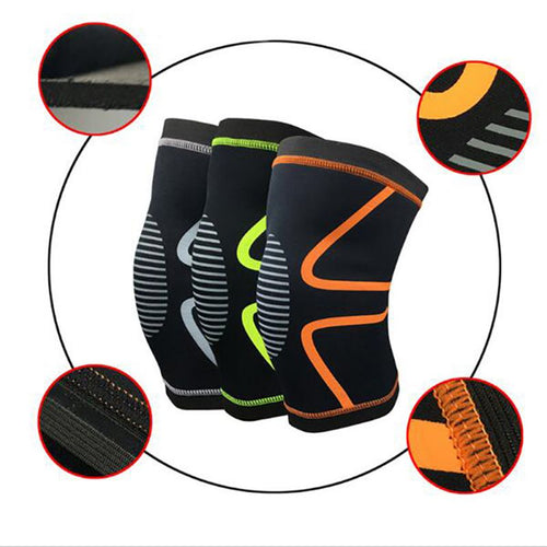 Single Piece Knee Support- Knee Pads/ Brace for Gym and Weight lifting