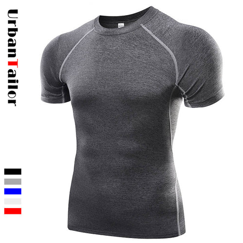 Short Sleeve Compression Fitness T shirt Male Fast Dry Workout Gear