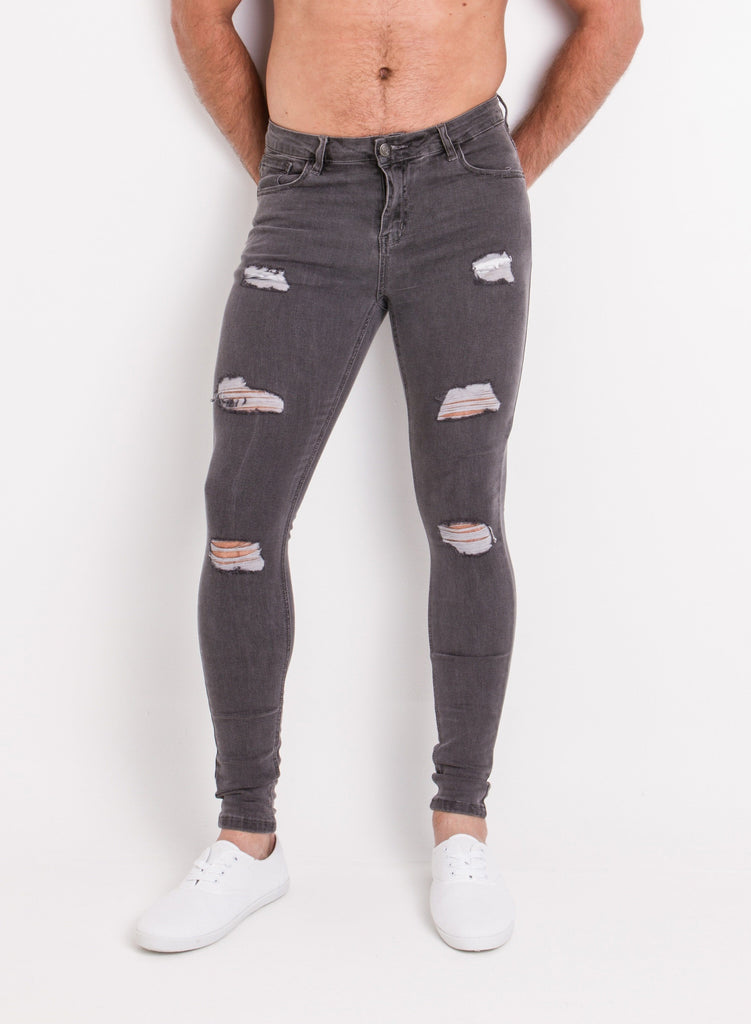 Distressed Grey 'CRUISE' Denim