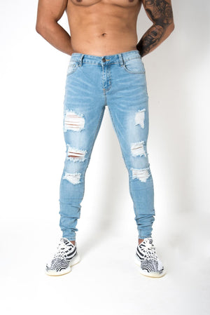 Distressed Ocean 'CRUISE' Denim