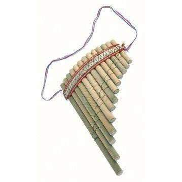 Large Curved Peruvian Easy to Use Pan Pipes - Fair Trade Decorative - Baan 57