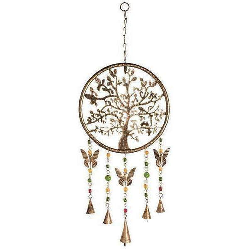 Tree of Life Windchime Mobile With Beads & Bells: 75cm - Baan 57