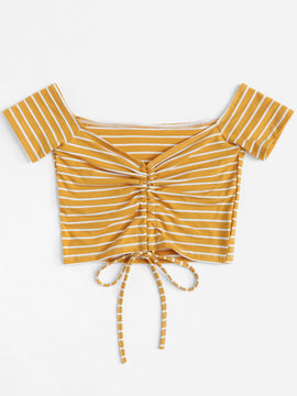 Striped Mustard Blouse