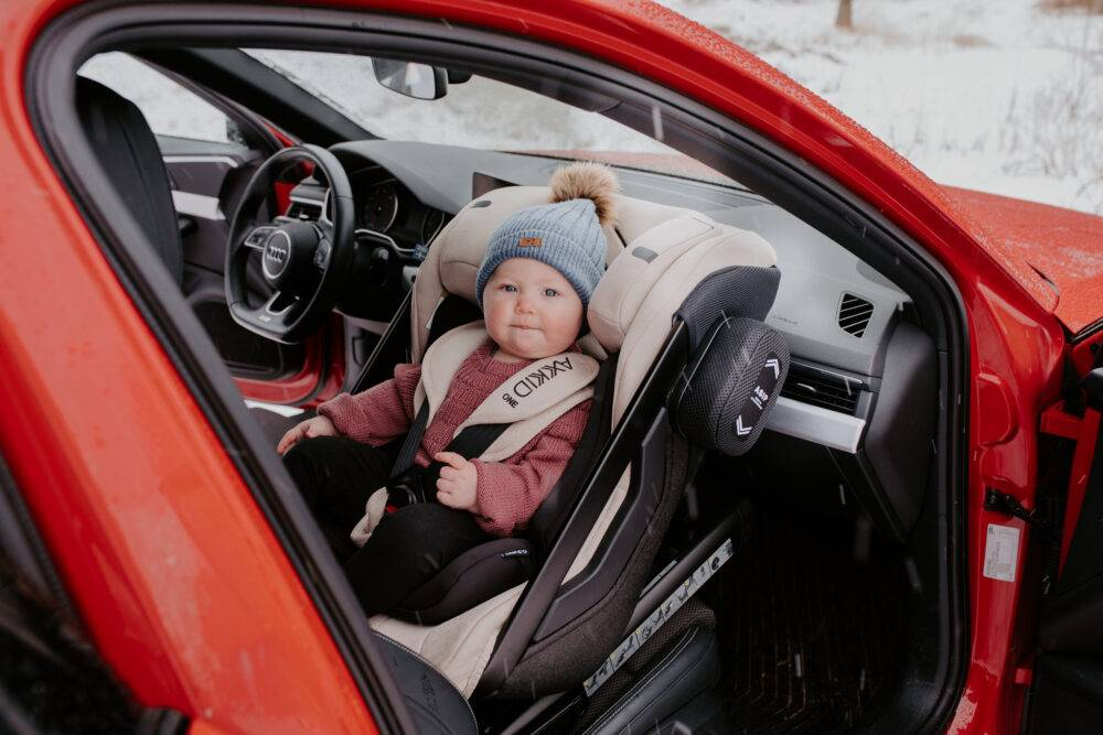 Axkid infront of airbag