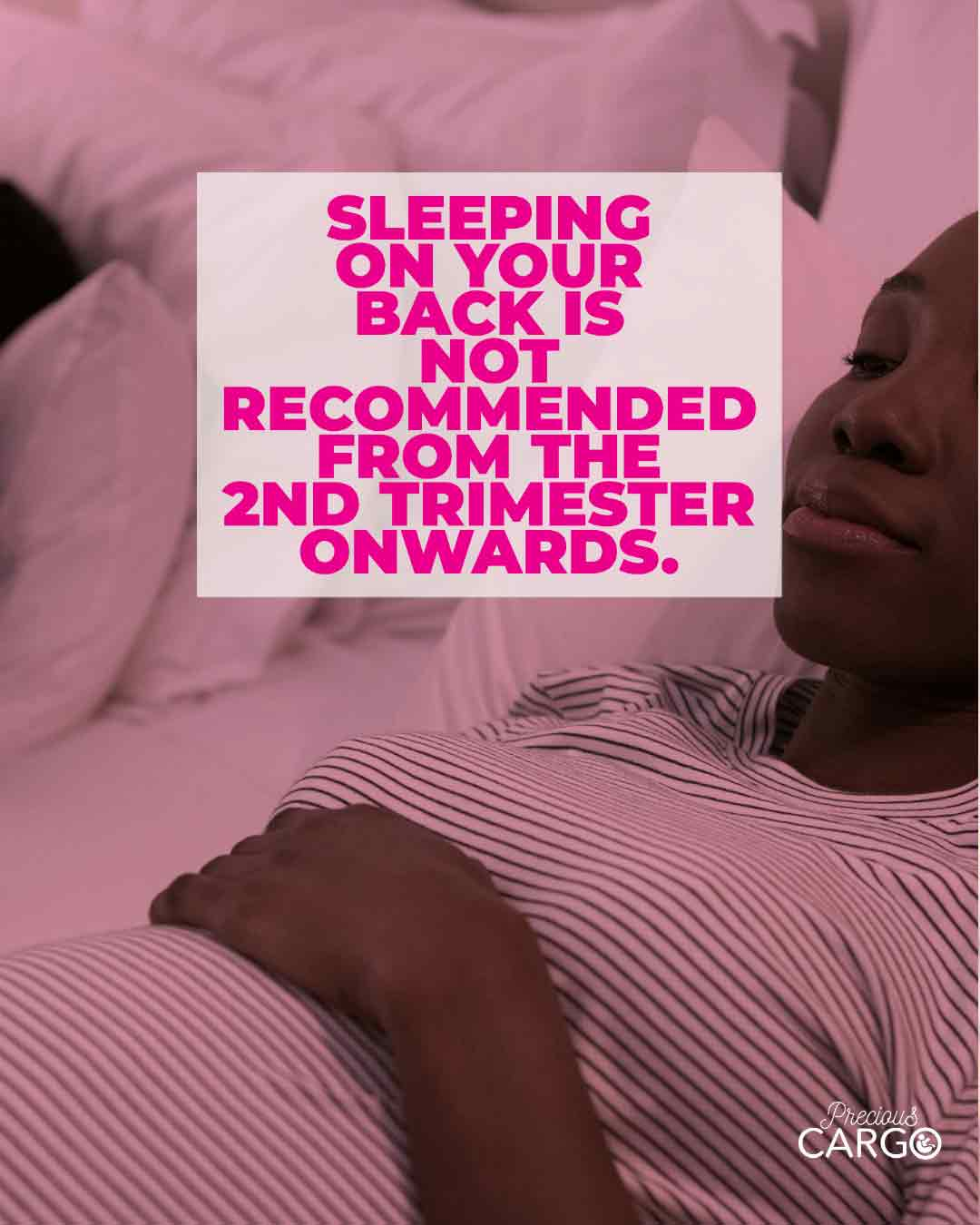 Sleeping on your back during pregnancy
