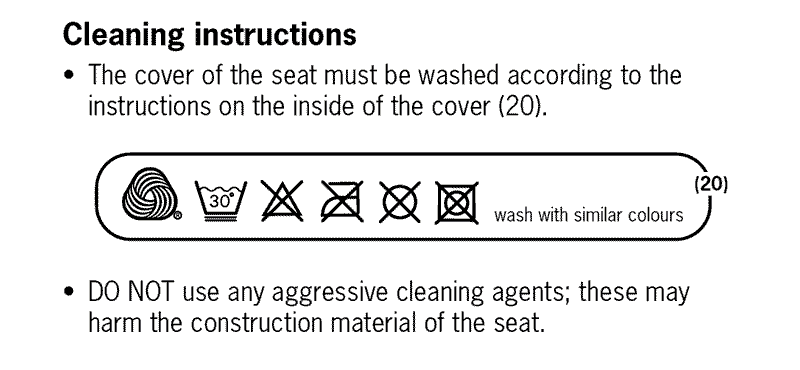 car seat cover cleaning-guidelines