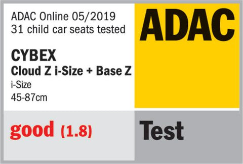 cybex cloud z safety rating adac
