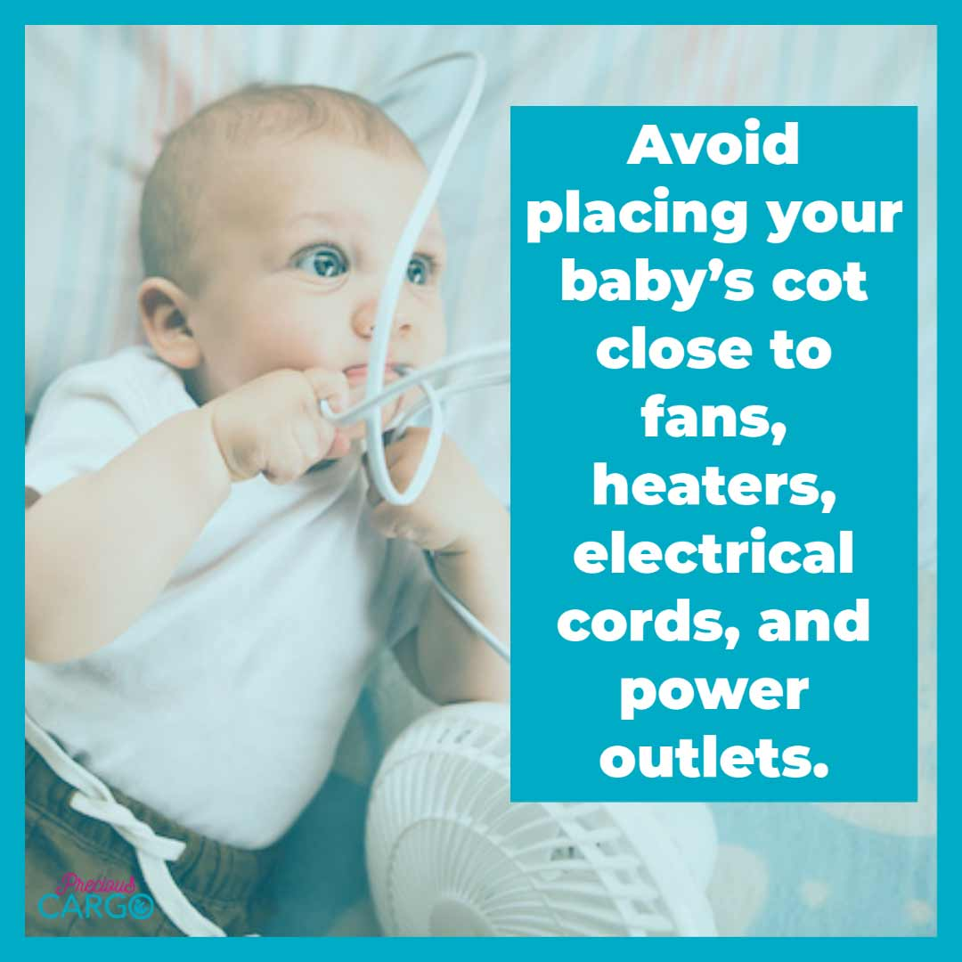 dangers of fans and heaters in baby's room