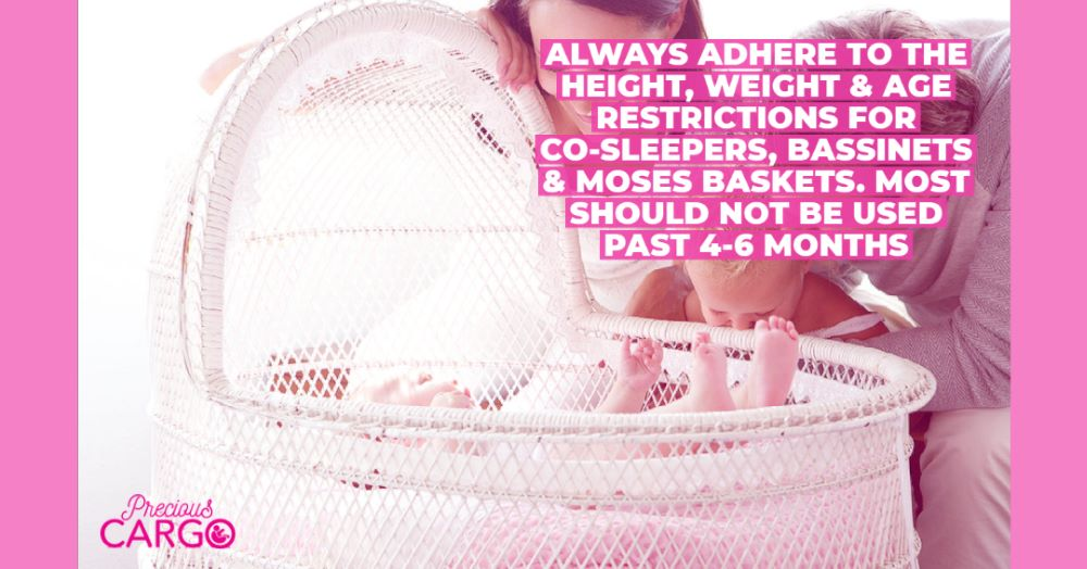 how long can bassinets and moses baskets be used for