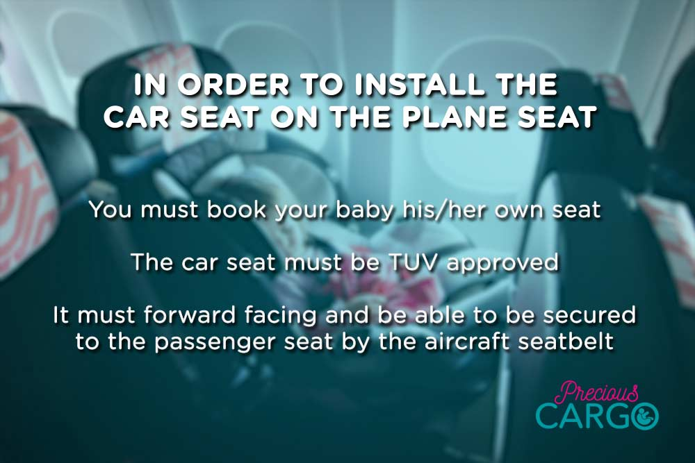 Installing an infant car seat on a plane