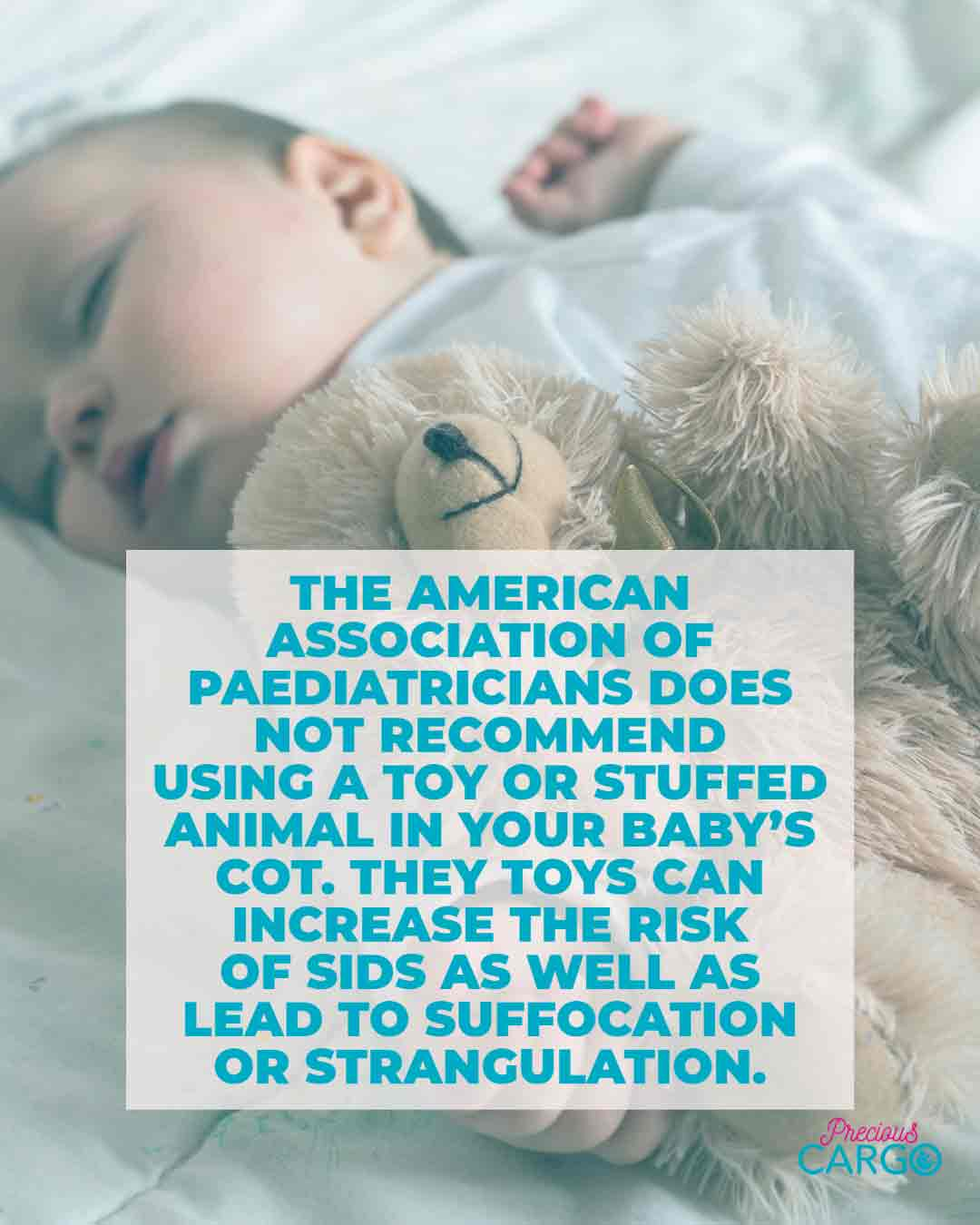 is it safe to use a soft toy in my baby's cot