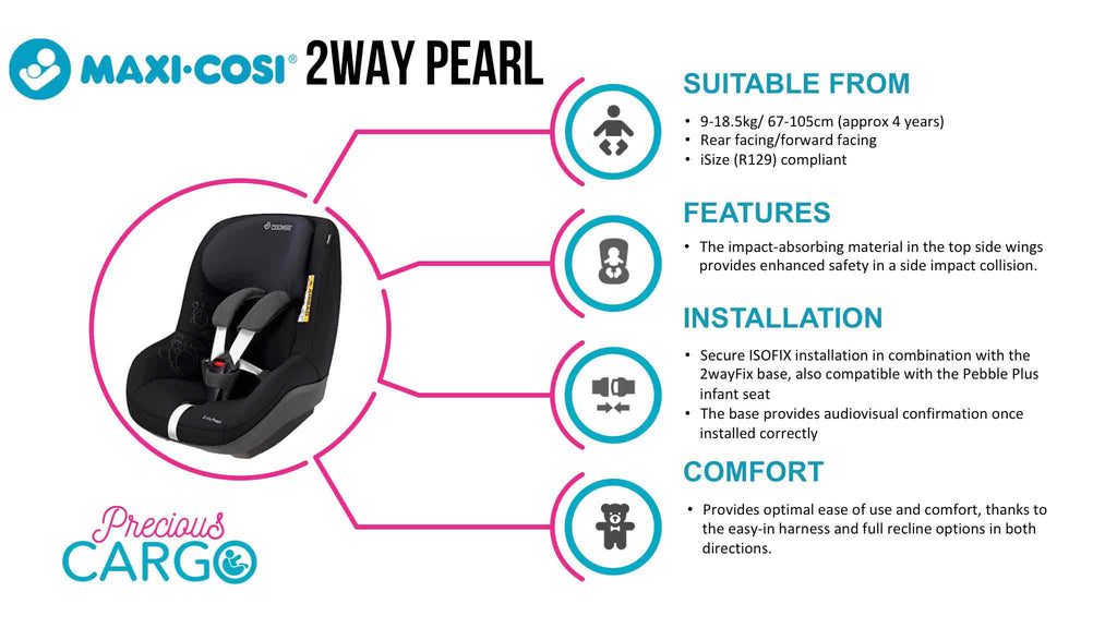 Maxi Cosi 2waypearl Rear Facing Carseat