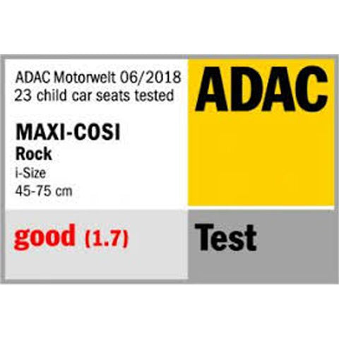 Maxi cosi rock adac safety ratings