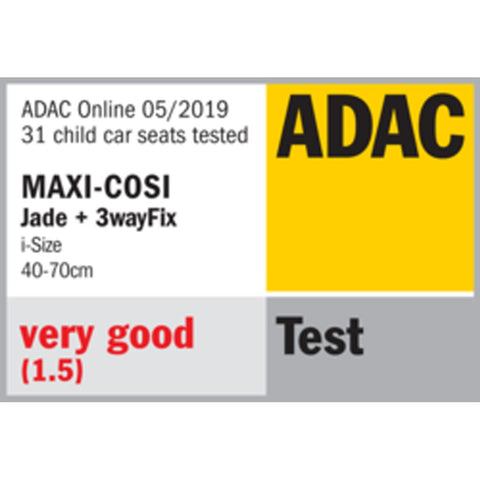 Maxi cosi jade adac safety ratings