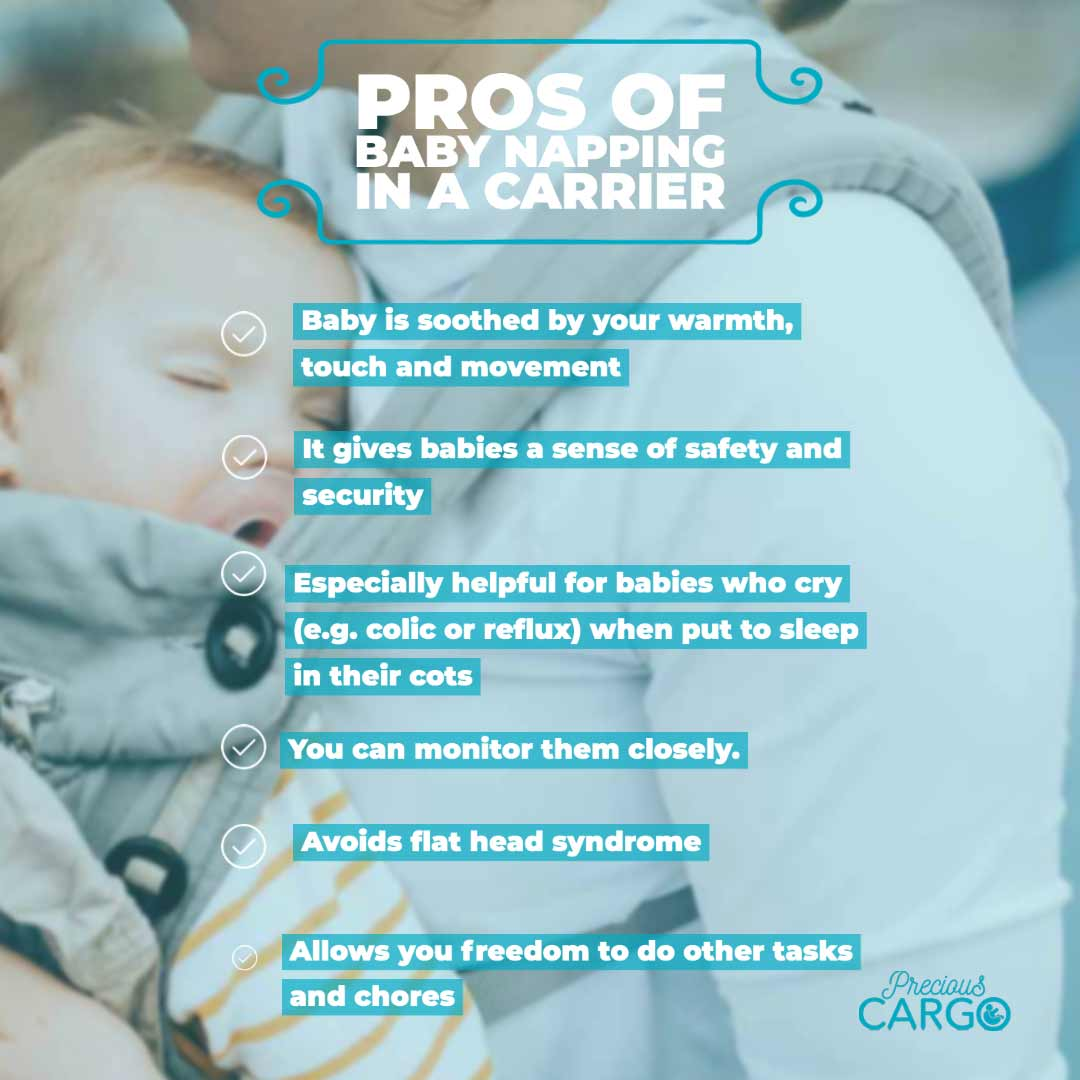 pros of baby napping in baby carrier