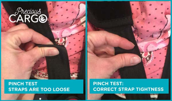 Tighten car seat Straps and Harnesses PROPERLY.