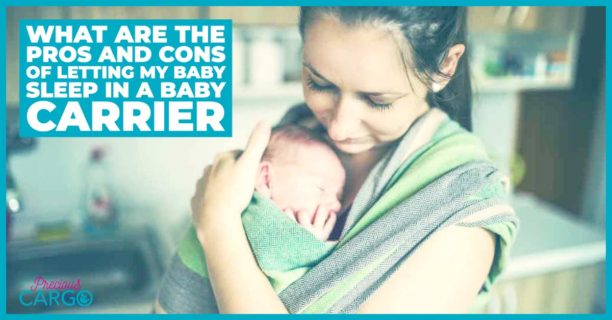Pros and cons of letting my baby nap in a baby carrier