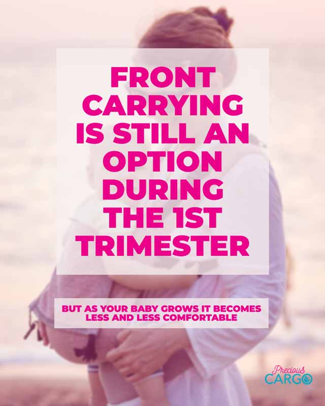 Safe Baby wearing in the first Trimester