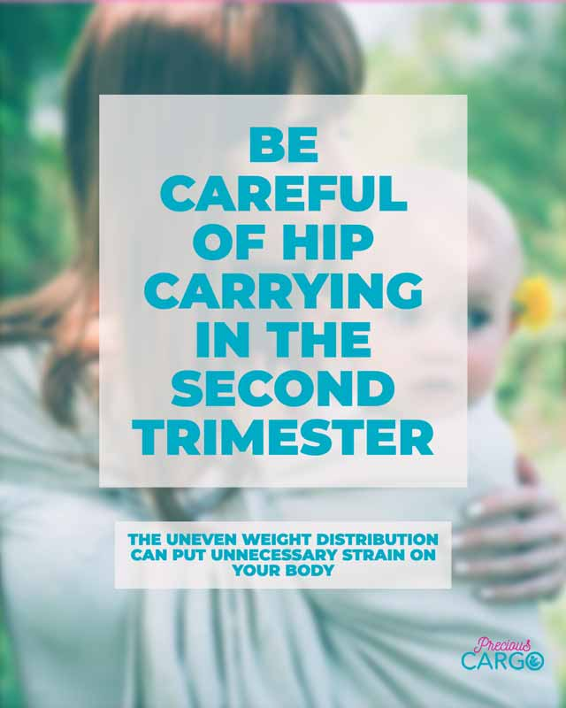 Safe Baby wearing in the second Trimester