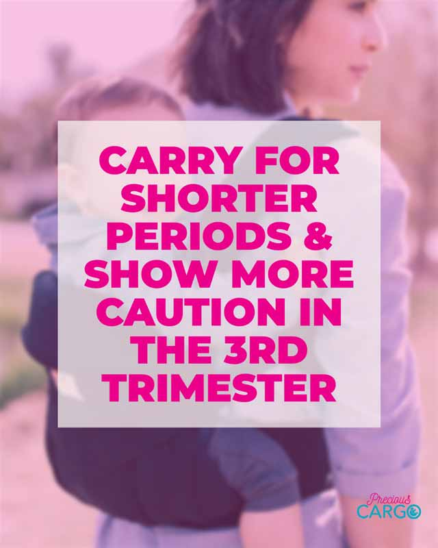 Safe Baby wearing in the third Trimester