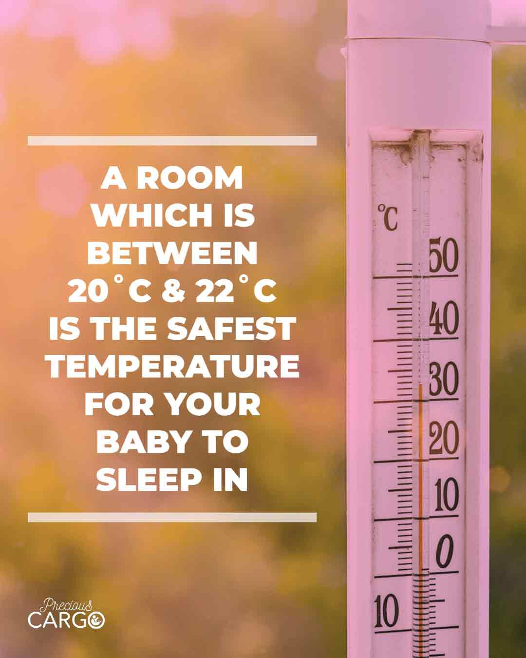 safe temperature for baby's room