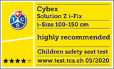 cybex solution z-ifix safety rating