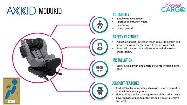 axkid modukid safety ratings and features