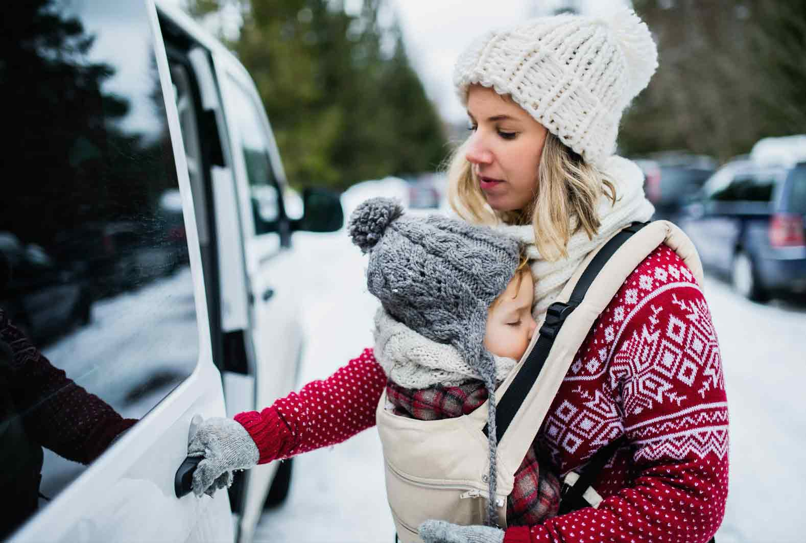 baby wearing in cold weather