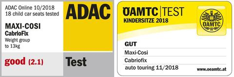 maxi cosi cabriofix adac safety rating
