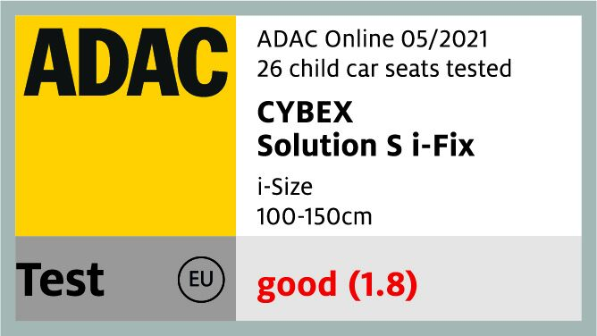 cybex solution s-fix adac safety rating