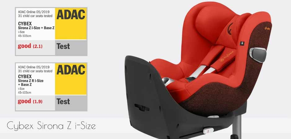 cybex sirona z safety features adac