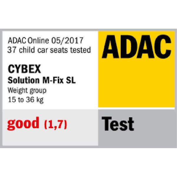 cybex solution m-fix adac safety ratings