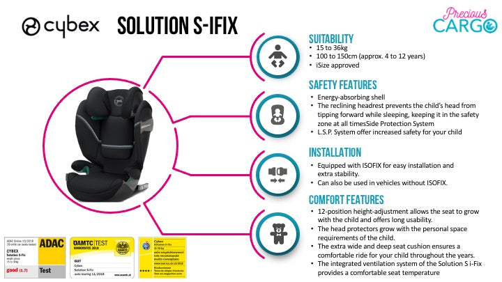 cybex solution s-fix safety ratings and features