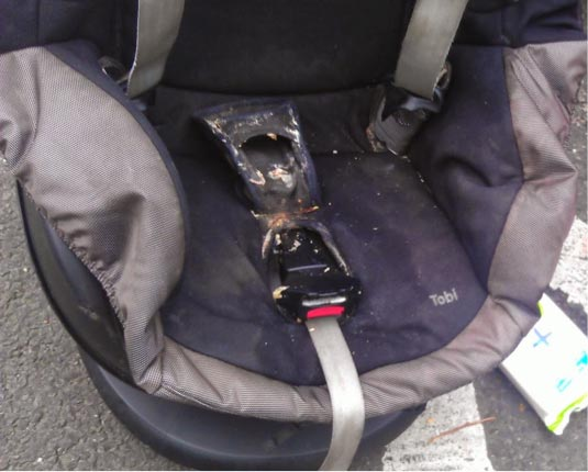 don't delay cleaning a dirty car seat