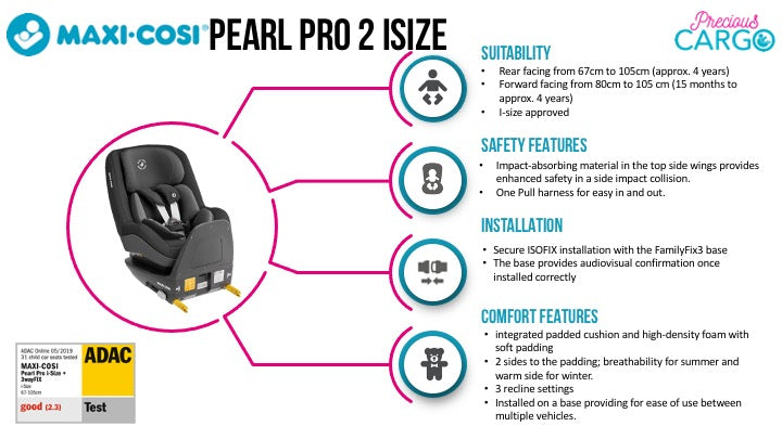 maxi cosi pearl pro 2 safety ratings and features