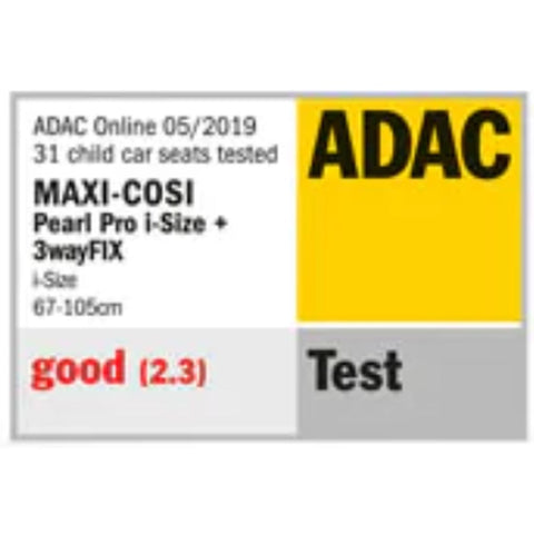 maxi cosi pearl pro adac safety ratings