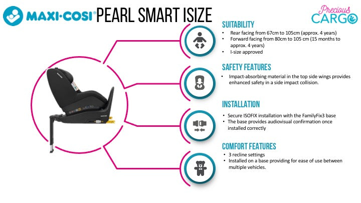 maxi cosi pearl smart features