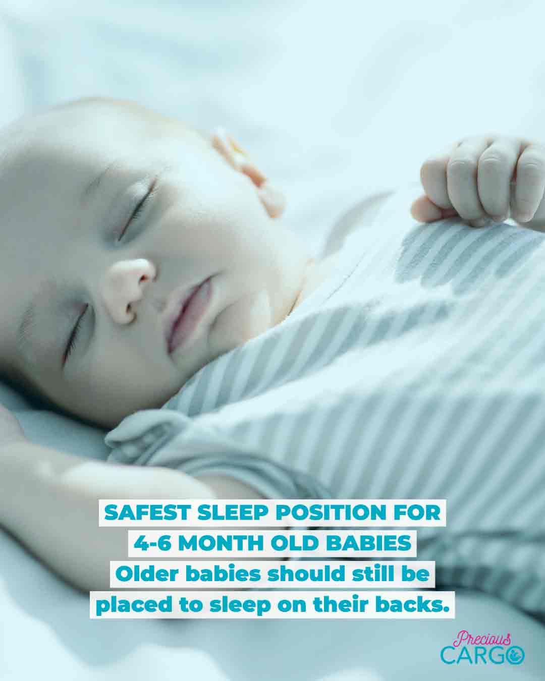 safest sleeping position for babies 4-6 months