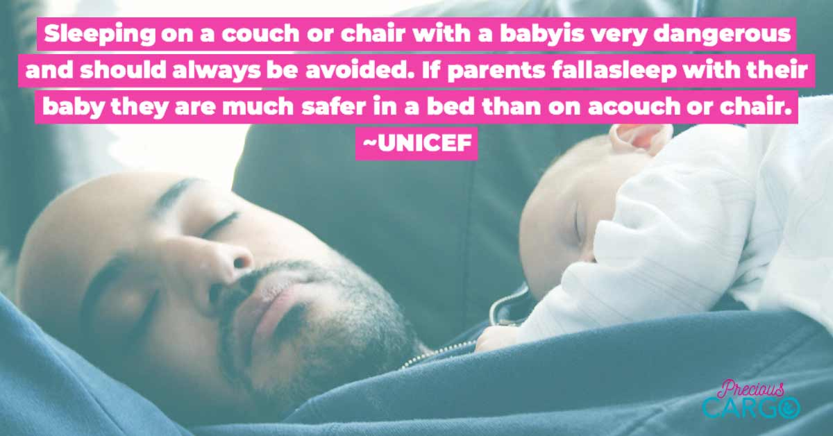 how to sleep safely with baby on chest
