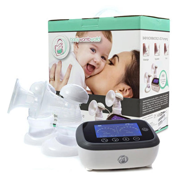 BABYWOMBWORLD PORTABLE HORIGEN DOUBLE ELECTRIC BREAST PUMP