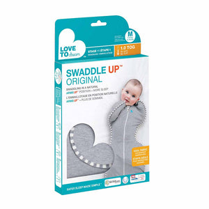 LOVE TO DREAM SWADDLE UP ORIGINAL 1.0 TOG (GREY)