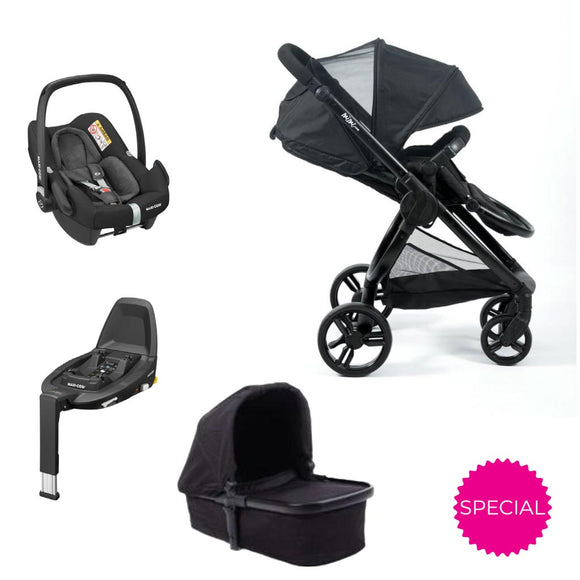 MIMI LUXE PRAM WITH ROCK 4-in-1 TRAVEL SYSTEM
