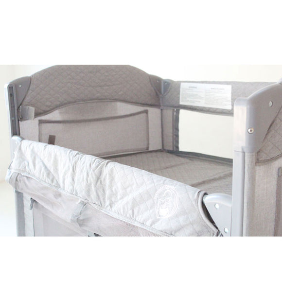 BABYWOMBWORLD 2-IN-1 CO-SLEEPER AND CAMP COT